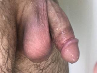 Post pump session more cock and balls.  I was so horned up.  Could use a hand or mouth to help. Any takers?