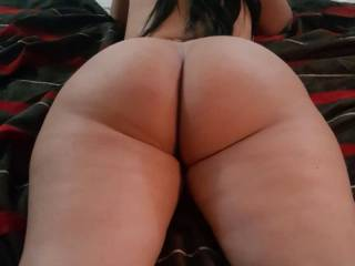 Laying there waiting for me to fuck her big juicy ass from behind
