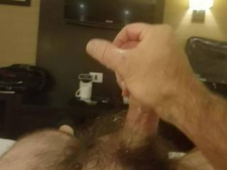 Jerking off at the hotel