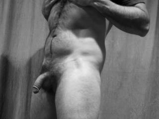 Black and white nude strong