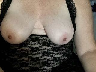 showing of her sexy tits