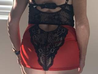 Sexy new outfit rear view