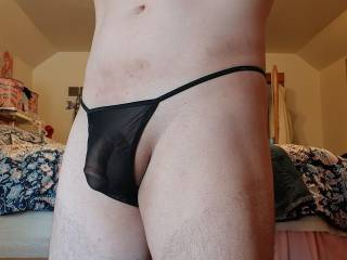 Just roaming around in a See-Thru Black Thong!!!