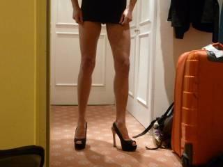 Moxie in new heels...mmmm... luv it?
