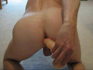 Oh! Nice! Nothing like a dildo up the ass as you stroke!