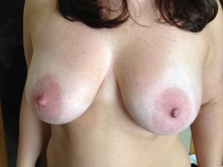 I love her perfect tits!  They are amazing.