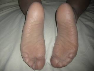 hell yeah,I'd feel,caress,suck and nibble your sexy stocking clad feet!