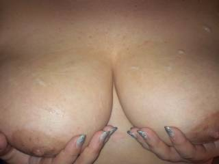 Sexy pic! would love to have my wife play with them or add a load of my own, or both !!