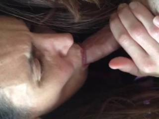 I would so love to be fortunate enough to feel her oh so talented mouth coaxing the cum from my balls. Ahhh, dreams.