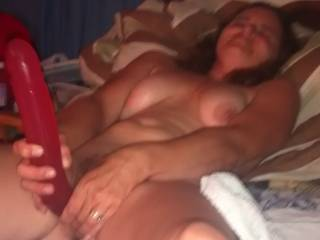 A guy I fucked behind Hubby\'s back wanted to watch me fuck myself before he gave me a hard fucking