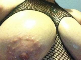 I love your big boobs and I wished to lick and suck on your sexy nipples!!