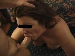 My wife sucking me (hubby)