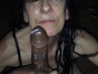 The blowjobqueen loves her well earned facial
