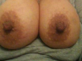 This Chicana loves her tits sucked!!