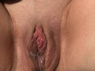 Used, wet pussy lips!!