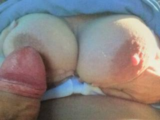 Big tits with big nipples and hard cocks always get along well, even virtually
