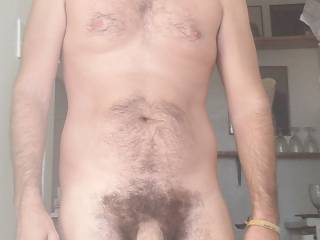 just hanging out naked with my big penis exposed at home