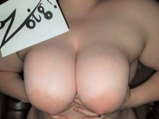 Showing off my big soft tits for ZG