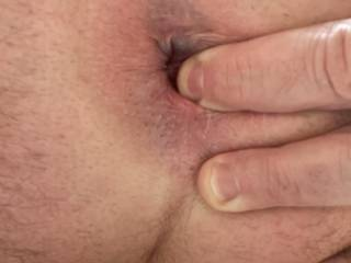 Fingering my hole while Stroking, felt incredible