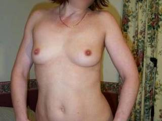 Lovely tits!. Just the right size for fun!