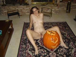 That's one sexy costume you have on hope you cum to my door tonight so I can get  a treat