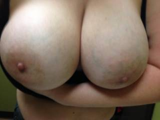 She's  got me hard as well, what a wonderfu pair of tits!