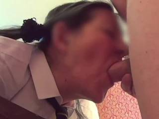 Schoolgirl 1 Pt 1 of 4 - I bought her some schoolgirl outfits, here\'s the first video featuring them.  Part 1 is sucking, spanking, sucking, fucking, caning, sucking and more fucking.  There\'s anal and A2M in part 2...