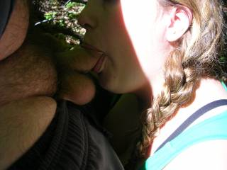 Looking cute outdoors sucking cock with her pig tails. This bj had a double cum shot, she just kept blowing
