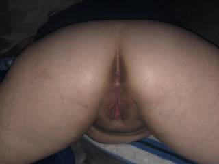 My pussy after a bbc finished fucking me. Who wants to put their huge cock in me next?