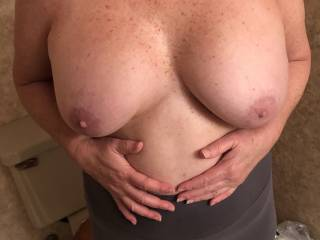 She likes showing off her tits.