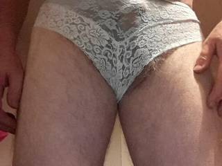 run my cock though these pants