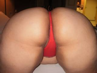 I could stare at that sweet ass for hours!  I agree with hubby..that is one nice ass to bury your face in!