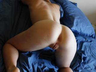 My sexy sub GF waiting to get a good pounding in all her holes.