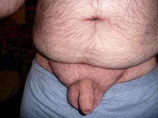 how\'d you like that hairy belly, cock and balls ;)
