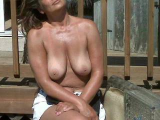 I'd love to be there to help you enjoy the warm sun.  I hope that the cold weather doesn't stop you from sharing that hot, sexy body & sexy smile.