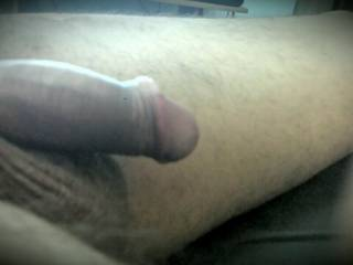 A side shot of my limp cock