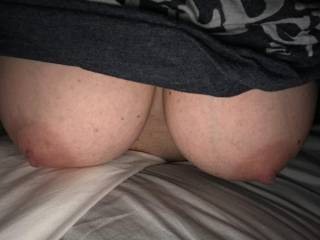 My gf loves to ride a big cock and have her big nipples sucked