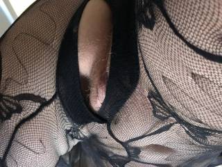 Fishnet Stocking Photo Shoot - Just really, really  hot sex with my wife.