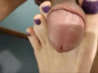 A great toe job  closeup