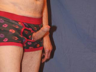 These undies are really quite tight around the base of my penis, no wonder I am so erect.