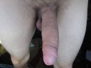 An 8 year old photo of my hard penis
