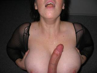 would love to join in on cumming all over her sexy big tits!!!! She would look decadently delicious covered in cum!!!