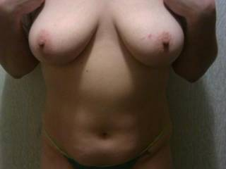 laying many kisses on your cute sexy little tummy as my hands wrok over your perfect tits