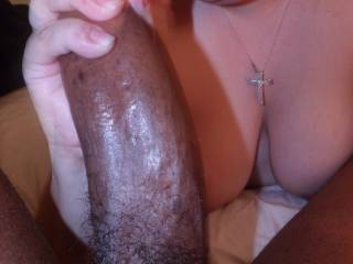 She couldn't keep her hands off of my Massive Black Cock