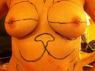 do you agree that garfields eyes look like boobs?  girlfriend let me draw this after watching Ted