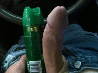 That big cock or the bug spray...lol Damn very nice...