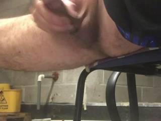 Quick wank at work on my lunch felt horny...