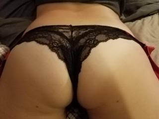 Would you rather pull my panties down, or pull them to the side?  Your choice