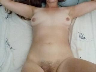My hairy pussy..