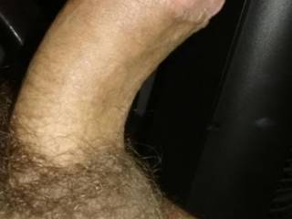 Here's a picture of my hard dick and the balls hanging out, let me know what you think of him.